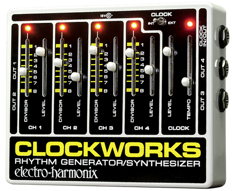 Electro-Harmonix Clockworks Rhythm Generator Synthesizer EHX Guitar Effects Pedal , Pedals, Electro-Harmonix, Texas Guitar Ranch - Texas Guitar Ranch