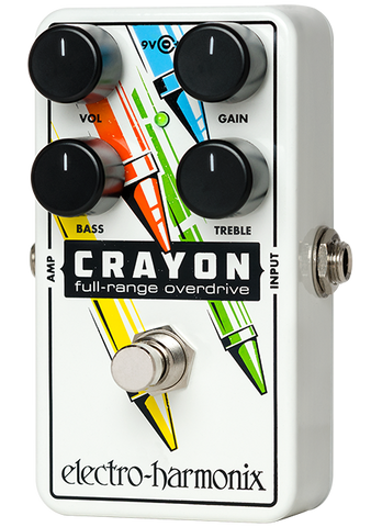 Electro-Harmonix Crayon 76 Full Range Overdrive EHX Guitar Effects Pedal , Pedals, Electro-Harmonix, Texas Guitar Ranch - Texas Guitar Ranch