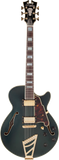 D'Angelico Deluxe SS Hollow Body Electric Guitar - Matte Midnight