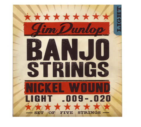 Dunlop Banjo Strings, Nickel Wound Light , Strings, Dunlop, Texas Guitar Ranch - Texas Guitar Ranch