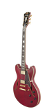 D'Angelico EX-DC Stop Tailpiece Cherry Double Cutaway Semi Hollow Electric Guitar , Guitars, D'Angelico, Texas Guitar Ranch - Texas Guitar Ranch