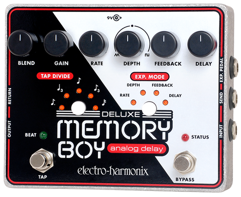 Electro-Harmonix Deluxe Memory Boy Tap Tempo Analog Delay EHX Guitar Effects Pedal