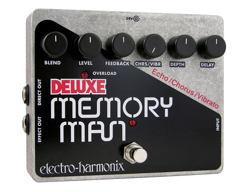 Electro-Harmonix Deluxe Memory Man Analog Delay Chorus Vibrato EHX Guitar Effects Pedal , Pedals, Electro-Harmonix, Texas Guitar Ranch - Texas Guitar Ranch