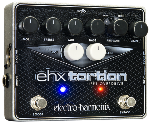 Electro-Harmonix EHX Tortion JFET Overdrive EHX Guitar Effects Pedal , Pedals, Electro-Harmonix, Texas Guitar Ranch - Texas Guitar Ranch