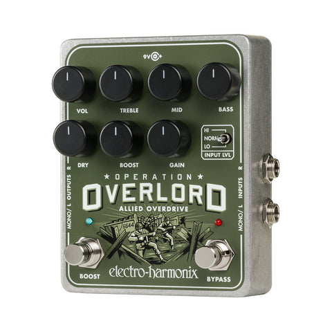 Electro Harmonix Operation Overlord Allied Overdrive , Pedals, Electro-Harmonix, Texas Guitar Ranch - Texas Guitar Ranch