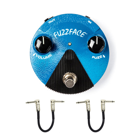 Dunlop FFM1 Silicon Fuzz Face Mini Distortion with Free Patch Cables , Pedals, Dunlop, Texas Guitar Ranch - Texas Guitar Ranch