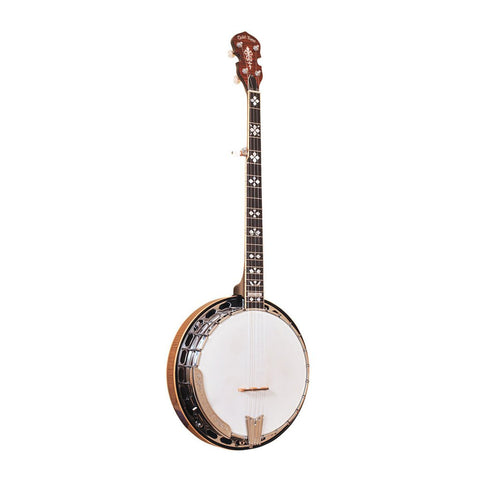 Gold Tone OB-250+ Left-Handed Orange Blossom Banjo with JLS #12 Tone Ring with Case , Folk, Gold Tone, Texas Guitar Ranch - Texas Guitar Ranch