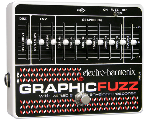 Electro-Harmonix Graphic Fuzz EQ Distortion Sustainer EHX Guitar Effects Pedal , Pedals, Electro-Harmonix, Texas Guitar Ranch - Texas Guitar Ranch