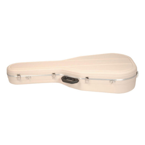 Hiscox Cases Acoustic Guitar Case OOO & OM Ivory Shell - Silver Int - Pro II   , Accessories, Hiscox Cases, Texas Guitar Ranch - Texas Guitar Ranch