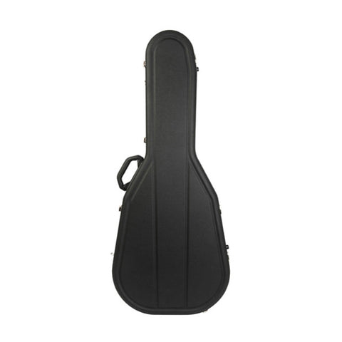Hiscox Cases Acoustic Guitar Case Dreadnought Black Shell - Silver Int - Pro II , Accessories, Hiscox Cases, Texas Guitar Ranch - Texas Guitar Ranch