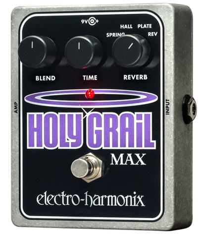 Electro-Harmonix Holy Grail Max Reverb EHX Guitar Effects Pedal , Pedals, Electro-Harmonix, Texas Guitar Ranch - Texas Guitar Ranch