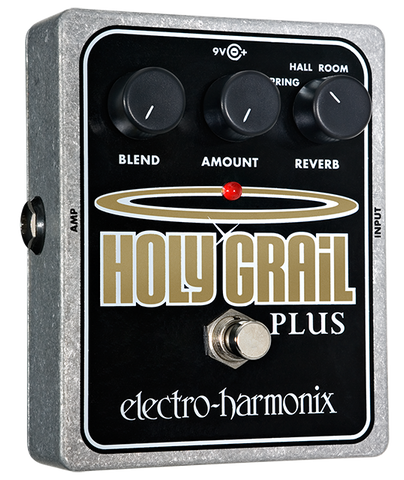Electro-Harmonix Holy Grail Plus Reverb EHX Guitar Effects Pedal , Pedals, Electro-Harmonix, Texas Guitar Ranch - Texas Guitar Ranch