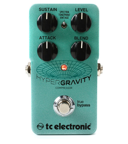 TC Electronic HyperGravity Compressor with TonePrint Guitar Effects Pedal , Pedals, TC Electronic, Texas Guitar Ranch - Texas Guitar Ranch
