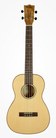 Kala KA-FMBG Solid Spruce Top & Flame Maple Baritone Ukulele , Folk, Kala, Texas Guitar Ranch - Texas Guitar Ranch