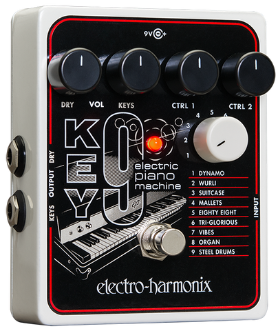 Electro-Harmonix Key9 Electric Piano Keyboard Machine EHX Guitar Effects Pedal