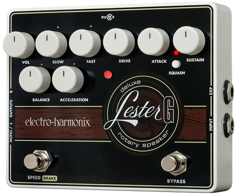 Electro-Harmonix Lester G Deluxe Rotary Speaker Effect EHX Guitar Effects Pedal , Pedals, Electro-Harmonix, Texas Guitar Ranch - Texas Guitar Ranch