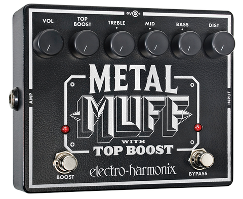 Electro-Harmonix Metal Muff Distortion with Top Boost EHX Guitar Effects Pedal