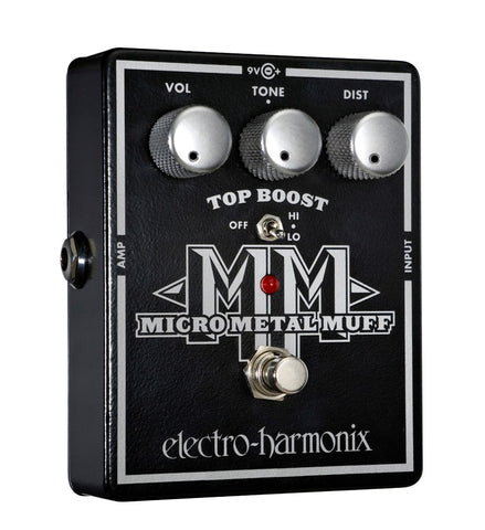Electro-Harmonix Micro Metal Muff Distortion with Top Boost EHX Guitar Effects Pedal , Pedals, Electro-Harmonix, Texas Guitar Ranch - Texas Guitar Ranch
