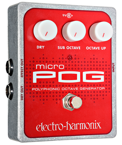 Electro-Harmonix Micro POG Polyphonic Octave Generator EHX Guitar Effects Pedal , Pedals, Electro-Harmonix, Texas Guitar Ranch - Texas Guitar Ranch