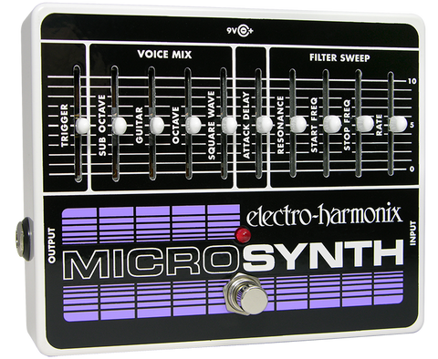 Electro-Harmonix Micro Synthesizer Analog Guitar Microsynth EHX Guitar Effects Pedal , Pedals, Electro-Harmonix, Texas Guitar Ranch - Texas Guitar Ranch