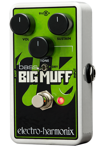 Electro-Harmonix Nano Bass Big Muff Pi Distortion Sustainer Bass Guitar Effects Pedal
