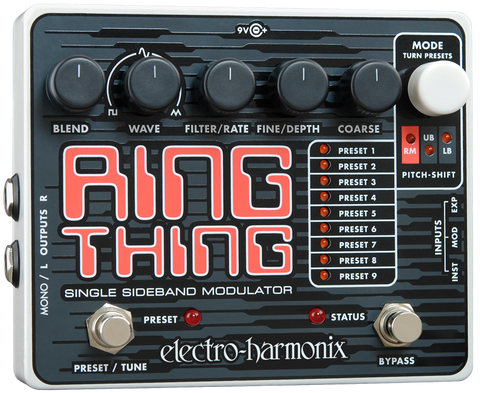 Electro-Harmonix Ring Thing Single Sideband Ring Modulator EHX Guitar Effects Pedal