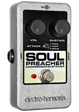 Electro-Harmonix Soul Preacher Compressor Sustainer EHX Guitar Effects Pedal