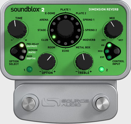 Source Audio SA225 Soundblox 2 Dimension Reverb , Pedals, Source Audio, Texas Guitar Ranch - Texas Guitar Ranch