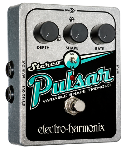 Electro-Harmonix Stereo Pulsar Variable Shape Analog Tremolo EHX Guitar Effects Pedal , Pedals, Electro-Harmonix, Texas Guitar Ranch - Texas Guitar Ranch