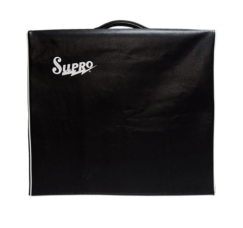 Supro CS10 Classic Supro 1x10 Amp Cover, Black Vinyl with Logo , Accessories, Supro, Texas Guitar Ranch - Texas Guitar Ranch