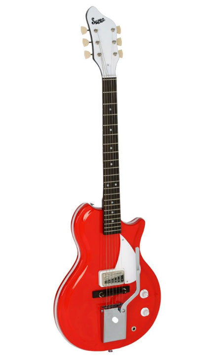 supro belmont vibrato electric guitar red texas guitar ranch. Black Bedroom Furniture Sets. Home Design Ideas