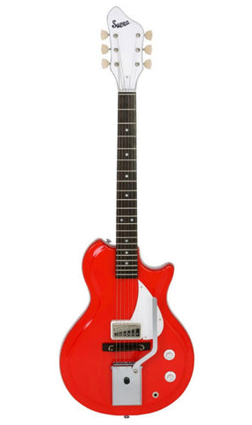 Supro Belmont Vibrato Electric Guitar - Red