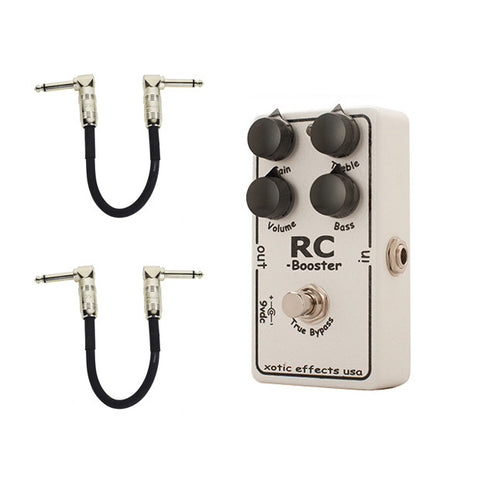 Xotic RC Booster with Free Patch Cables Guitar Effects Pedal
