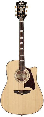 D'Angelico SD-400 Brooklyn Dreadnaught Acoustic Guitar Solid Sapele Hard Case EQ