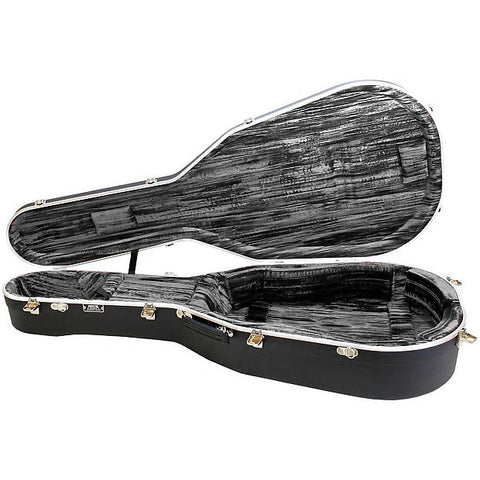 Hiscox Artist Acoustic Guitar Case - Dreadnght Black Shell - Silver Interior