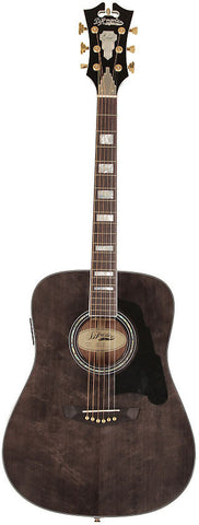 D'Angelico SD-300 Lexington Dreadnought Acoustic Guitar Grey Black Solid Sapele Hard Case EQ , Guitars, D'Angelico, Texas Guitar Ranch - Texas Guitar Ranch