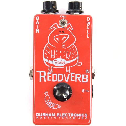 Durham Electronics Reddverb Reverb-Preamp Guitar Effects Pedal , Pedals, Durham Electronics, Texas Guitar Ranch - Texas Guitar Ranch