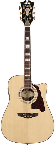 D'Angelico SD-500 Bowery Dreadnought Spruce Rosewood Fishman INK4 Hardshell Case Natural