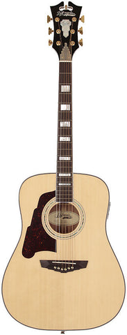 D'Angelico SD-300 Lexington Dreadnought Lefty Left Handed Acoustic Guitar Natural Solid Sapele with Case
