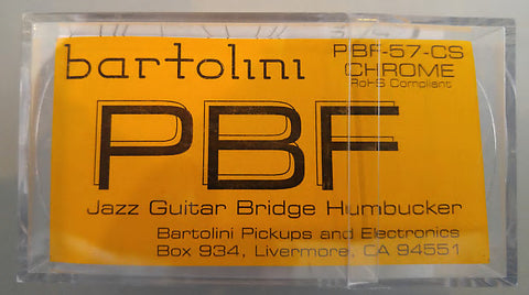 Bartolini PBF-57-Chrome Jazz Guitar Bridge Pickup , Accessories, Bartolini, Texas Guitar Ranch - Texas Guitar Ranch