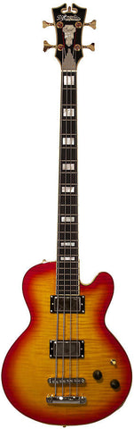 D'Angelico EX-SD Bass Cherry Burst 4 String with Hard Case , Bass Guitars, D'Angelico, Texas Guitar Ranch - Texas Guitar Ranch