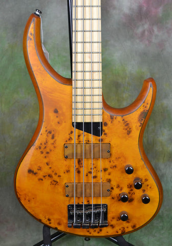 MTD Kingston Z4 4 String Bass Guitar Amber Burl Maple , Bass Guitars, MTD, Texas Guitar Ranch - Texas Guitar Ranch