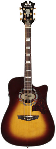 D'Angelico SD-500 Bowery Dreadnought Spruce Rosewood Fishman INK4 Hardshell Case Vintage Sunburst