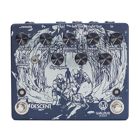 Walrus Audio Descent Reverb Guitar Effects Pedal , Pedals, Walrus Audio, Texas Guitar Ranch - Texas Guitar Ranch