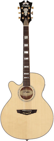 D'Angelico SG-100L Mercer Grand Auditorium Lefty Acoustic Guitar with Fishman INK4 & Hardshell Case