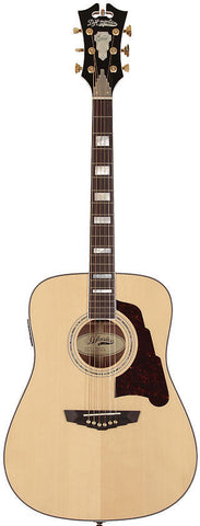 D'Angelico SD-300 Lexington Dreadnought Acoustic Guitar Natural Solid Sapele Hard Case EQ