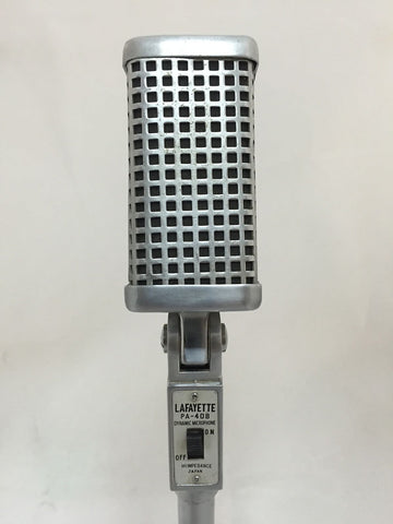 Lafayette PA-408 Dynamic Microphone, Satin Chrome