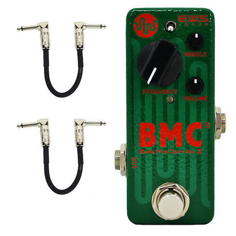 E.W.S. BMC 2 Bass Mid Control with Free Patch Cables Bass Guitar Effects Pedal