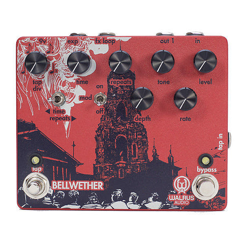 Walrus Audio Bellwether Analog Delay with Tap Tempo Guitar Effects Pedal