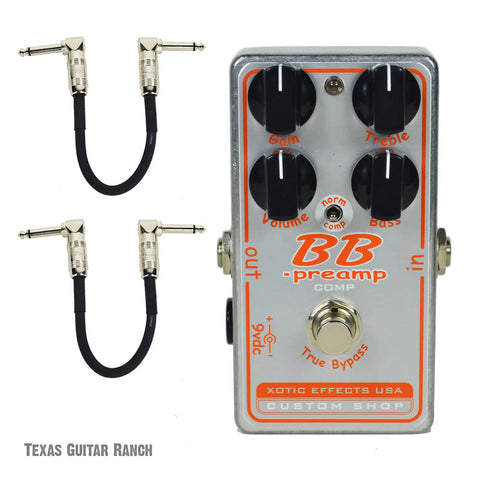 Xotic BBP Comp Custom Shop BB Preamp with Free Patch Cables